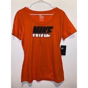 NWT NIKE Orange Athletic T-Shirt Sz L